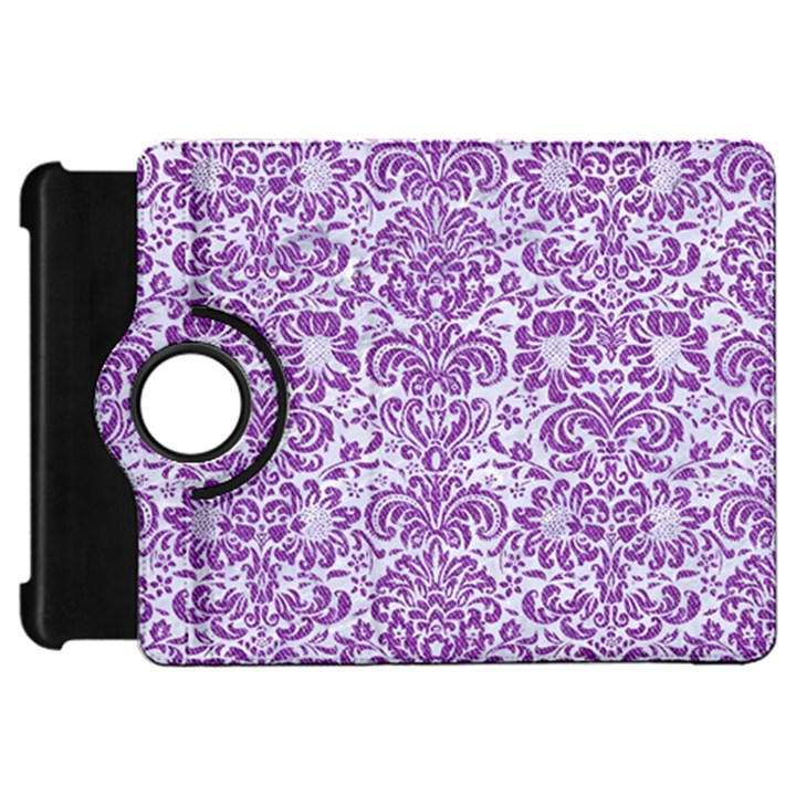 DAMASK2 WHITE MARBLE & PURPLE DENIM (R) Kindle Fire HD 7