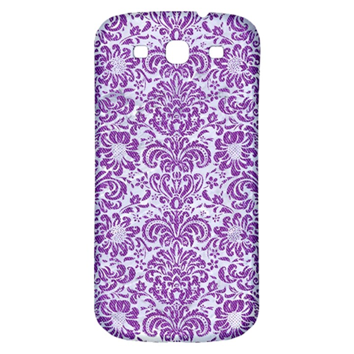 DAMASK2 WHITE MARBLE & PURPLE DENIM (R) Samsung Galaxy S3 S III Classic Hardshell Back Case