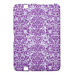 Damask2 White Marble & Purple Denim (r) Kindle Fire Hd 8 9