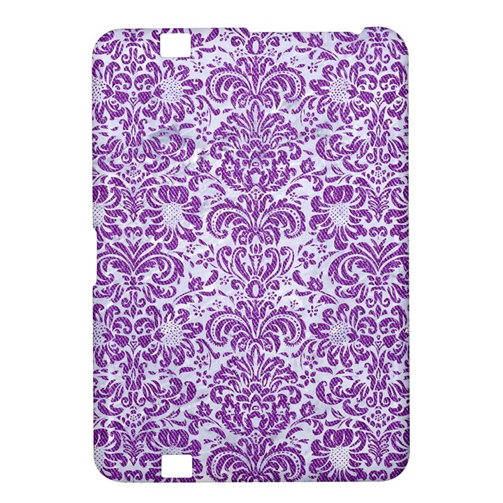 DAMASK2 WHITE MARBLE & PURPLE DENIM (R) Kindle Fire HD 8.9