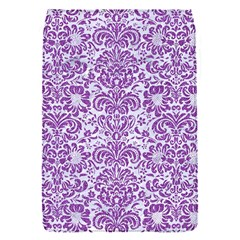 Damask2 White Marble & Purple Denim (r) Flap Covers (s)