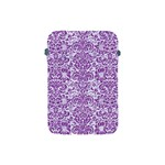 DAMASK2 WHITE MARBLE & PURPLE DENIM (R) Apple iPad Mini Protective Soft Cases Front