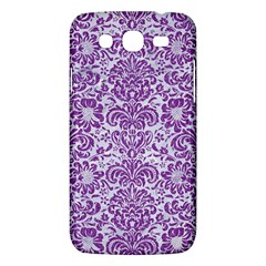 Damask2 White Marble & Purple Denim (r) Samsung Galaxy Mega 5 8 I9152 Hardshell Case