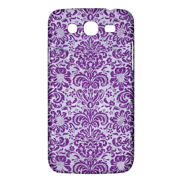 DAMASK2 WHITE MARBLE & PURPLE DENIM (R) Samsung Galaxy Mega 5.8 I9152 Hardshell Case