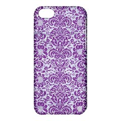 Damask2 White Marble & Purple Denim (r) Apple Iphone 5c Hardshell Case