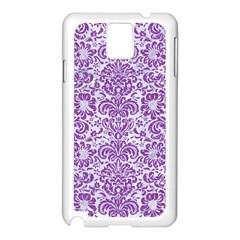 Damask2 White Marble & Purple Denim (r) Samsung Galaxy Note 3 N9005 Case (white)