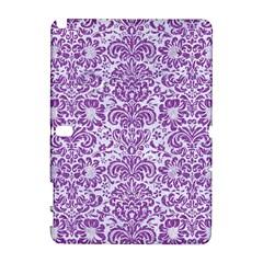 Damask2 White Marble & Purple Denim (r) Galaxy Note 1