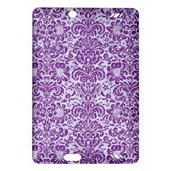 Damask2 White Marble & Purple Denim (r) Amazon Kindle Fire Hd (2013) Hardshell Case