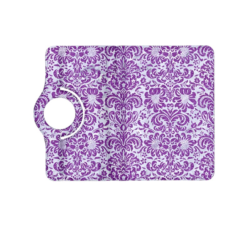 DAMASK2 WHITE MARBLE & PURPLE DENIM (R) Kindle Fire HD (2013) Flip 360 Case