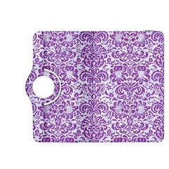 Damask2 White Marble & Purple Denim (r) Kindle Fire Hdx 8 9  Flip 360 Case