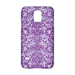 DAMASK2 WHITE MARBLE & PURPLE DENIM (R) Samsung Galaxy S5 Hardshell Case