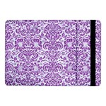 DAMASK2 WHITE MARBLE & PURPLE DENIM (R) Samsung Galaxy Tab Pro 10.1  Flip Case Front