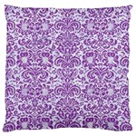 DAMASK2 WHITE MARBLE & PURPLE DENIM (R) Standard Flano Cushion Case (One Side) Front