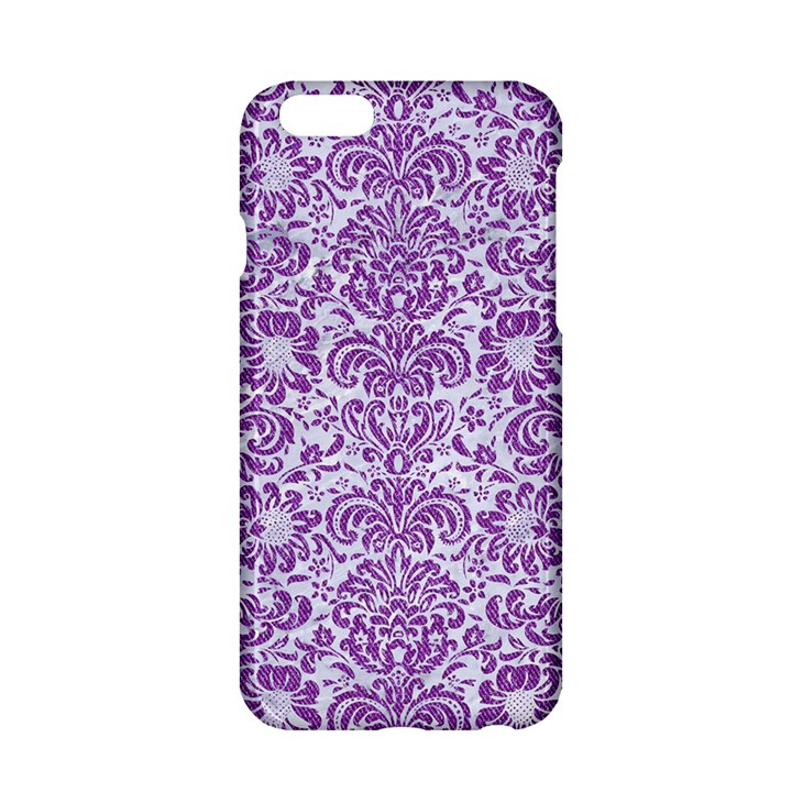 DAMASK2 WHITE MARBLE & PURPLE DENIM (R) Apple iPhone 6/6S Hardshell Case