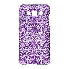 Damask2 White Marble & Purple Denim (r) Samsung Galaxy A5 Hardshell Case
