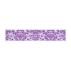 Damask2 White Marble & Purple Denim (r) Flano Scarf (mini)