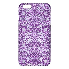 Damask2 White Marble & Purple Denim (r) Iphone 6 Plus/6s Plus Tpu Case