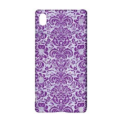 Damask2 White Marble & Purple Denim (r) Sony Xperia Z3+