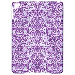 Damask2 White Marble & Purple Denim (r) Apple Ipad Pro 9 7   Hardshell Case
