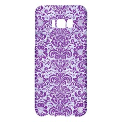 Damask2 White Marble & Purple Denim (r) Samsung Galaxy S8 Plus Hardshell Case