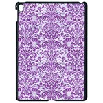DAMASK2 WHITE MARBLE & PURPLE DENIM (R) Apple iPad Pro 9.7   Black Seamless Case Front