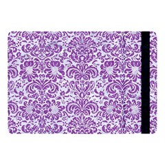 Damask2 White Marble & Purple Denim (r) Apple Ipad Pro 10 5   Flip Case