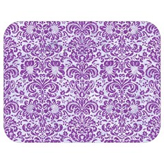 Damask2 White Marble & Purple Denim (r) Full Print Lunch Bag by trendistuff