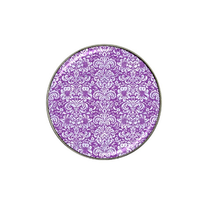 DAMASK2 WHITE MARBLE & PURPLE DENIM Hat Clip Ball Marker (10 pack)