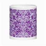 DAMASK2 WHITE MARBLE & PURPLE DENIM Morph Mugs Center