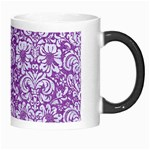 DAMASK2 WHITE MARBLE & PURPLE DENIM Morph Mugs Right