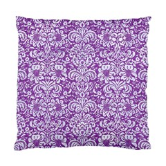 Damask2 White Marble & Purple Denim Standard Cushion Case (two Sides) by trendistuff