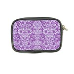 DAMASK2 WHITE MARBLE & PURPLE DENIM Coin Purse Back