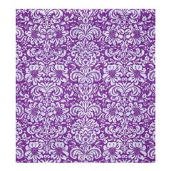 Damask2 White Marble & Purple Denim Shower Curtain 66  X 72  (large)  by trendistuff