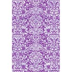 DAMASK2 WHITE MARBLE & PURPLE DENIM 5.5  x 8.5  Notebooks Front Cover