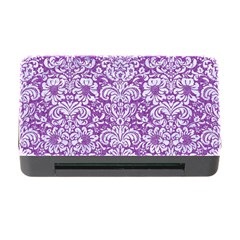 Damask2 White Marble & Purple Denim Memory Card Reader With Cf