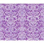 DAMASK2 WHITE MARBLE & PURPLE DENIM Deluxe Canvas 14  x 11  14  x 11  x 1.5  Stretched Canvas