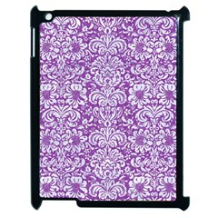 Damask2 White Marble & Purple Denim Apple Ipad 2 Case (black)