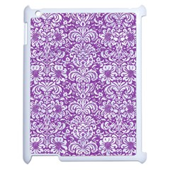 Damask2 White Marble & Purple Denim Apple Ipad 2 Case (white)
