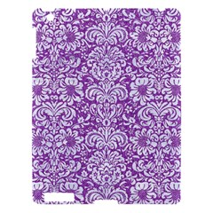Damask2 White Marble & Purple Denim Apple Ipad 3/4 Hardshell Case