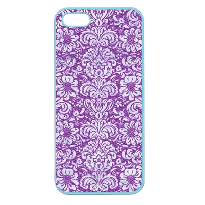 DAMASK2 WHITE MARBLE & PURPLE DENIM Apple Seamless iPhone 5 Case (Color)
