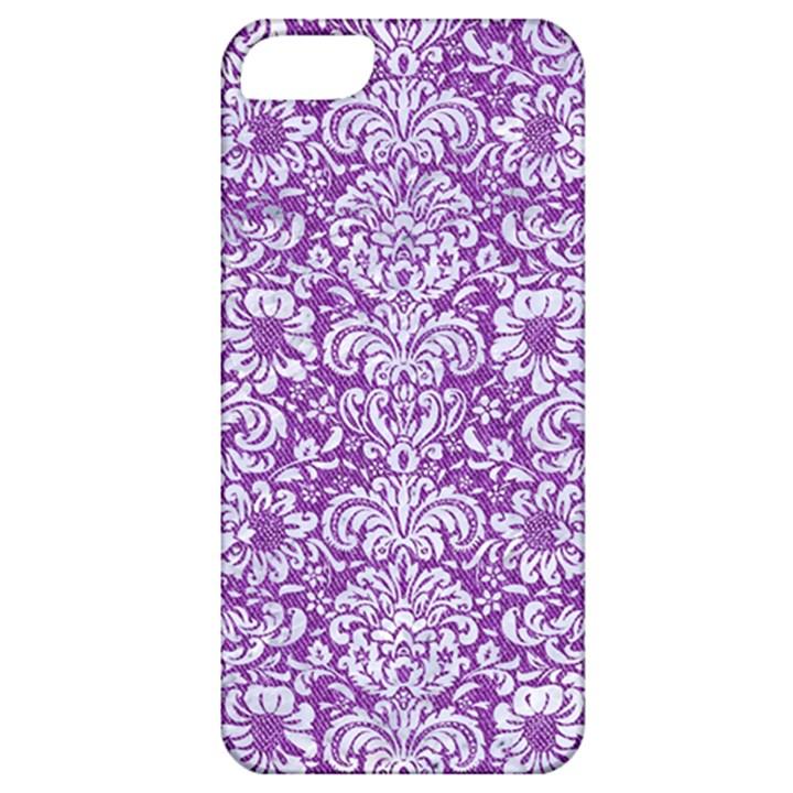 DAMASK2 WHITE MARBLE & PURPLE DENIM Apple iPhone 5 Classic Hardshell Case