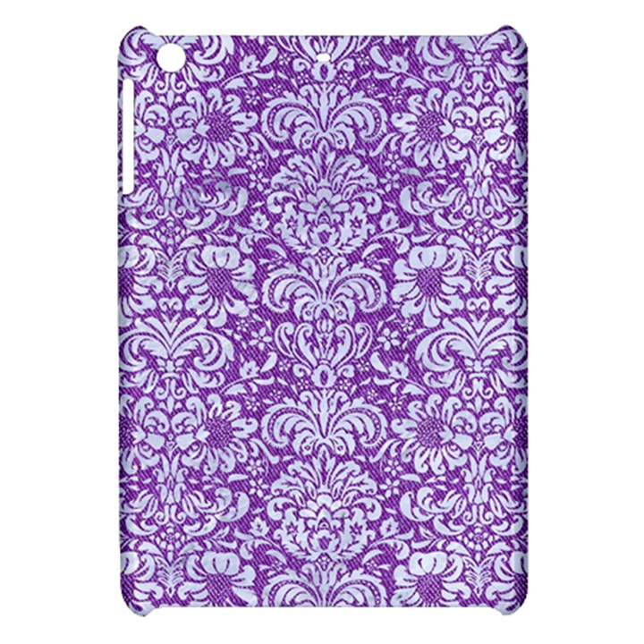 DAMASK2 WHITE MARBLE & PURPLE DENIM Apple iPad Mini Hardshell Case