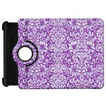 DAMASK2 WHITE MARBLE & PURPLE DENIM Kindle Fire HD 7  Front