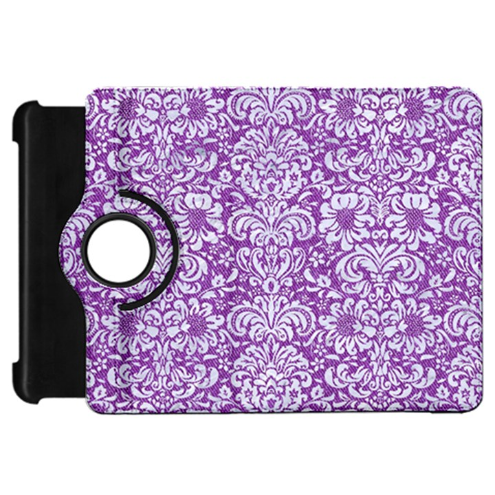 DAMASK2 WHITE MARBLE & PURPLE DENIM Kindle Fire HD 7