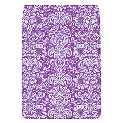 Damask2 White Marble & Purple Denim Flap Covers (s)