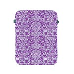 DAMASK2 WHITE MARBLE & PURPLE DENIM Apple iPad 2/3/4 Protective Soft Cases Front