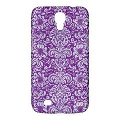 Damask2 White Marble & Purple Denim Samsung Galaxy Mega 6 3  I9200 Hardshell Case