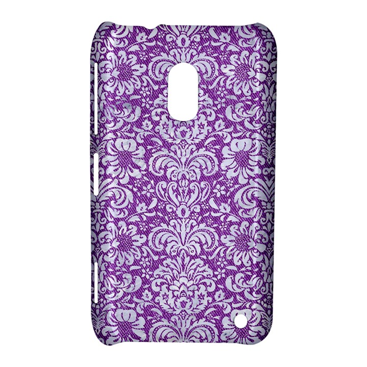 DAMASK2 WHITE MARBLE & PURPLE DENIM Nokia Lumia 620
