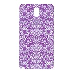 DAMASK2 WHITE MARBLE & PURPLE DENIM Samsung Galaxy Note 3 N9005 Hardshell Back Case Front