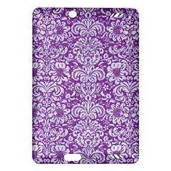 Damask2 White Marble & Purple Denim Amazon Kindle Fire Hd (2013) Hardshell Case